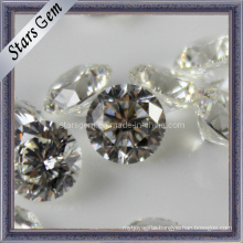 81 Facets Star Cut Round Shape Loose Stone Cubic Zirconia