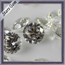 81 facetas Star Cut forma redonda pedra solta zircônia cúbica