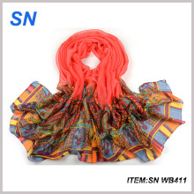 2015 China Scarf Factory Printed Voile Scarf