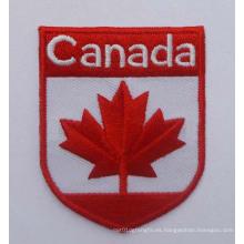 Insignia del logotipo del país del remiendo del bordado de la bandera de Canadá (GZHY-PATCH-001)