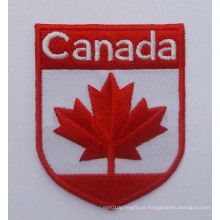 Emblema do logotipo do país do remendo do bordado da bandeira de Canadá (GZHY-PATCH-001)