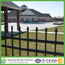 Alta calidad negro barato decorativos valla de hierro forjado con la flecha