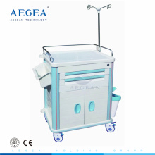 AG-ET015B1 with Centralized lock trolley hospital crash carts