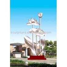 Große Faszination Skulptur, Edelstahl Garten Skulptur