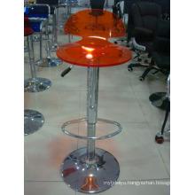 Red Swivel Leather Acrylic Bar Stool