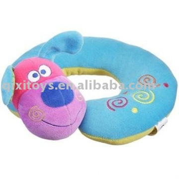 stufed plush animal dog travel neck pillow
