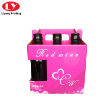 corrugated paper box for six bottles of wine