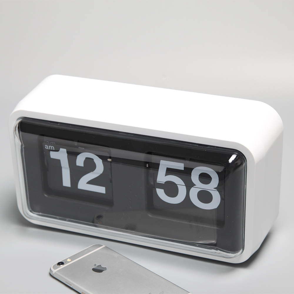 Black/White Box Flip Table Clock