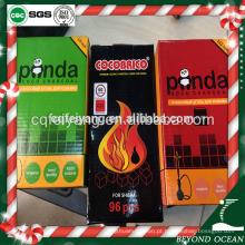 Atacado Panda 2.5 * 2.5 * 1.5 cm cubo de coco shisha carvão