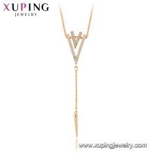 44950 Xuping haute qualité 18k plaqué or design créatif colliers de mode pour le cadeau