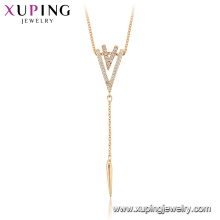 44950 Xuping high quality 18k gold plated creative design fashion necklaces for gift