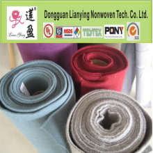Feutre en laine de couleur polyester non tissé à bas prix pour filtre