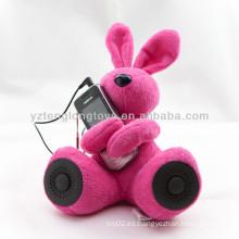 Novedad DJ altavoz de conejo para MP3 ordenador PSP