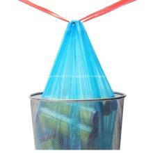Sac poubelle en plastique à cordon