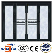 High Quality Security Steel Entrance Metal Glass Door (W-GD-36)