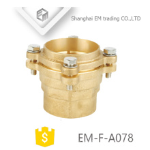 EM-F-A078 Brass couping elbow flange type pipe fitting