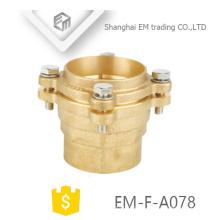 EM-F-A078 Latão couping cotovelo cotovelo tipo de encaixe de tubulação