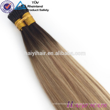 Alibaba Gros Remy Hight Grade Cheveux I Astuce Extension de Cheveux Humains Pour Femme Blanche