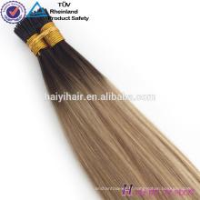 Alibaba Gros Remy Hight Grade Cheveux I Astuce Extension de Cheveux Humains Pour Femme Blanche