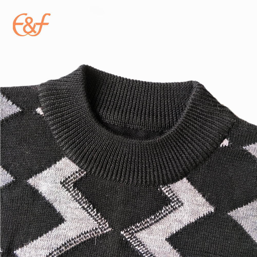 Men mock neck sweater