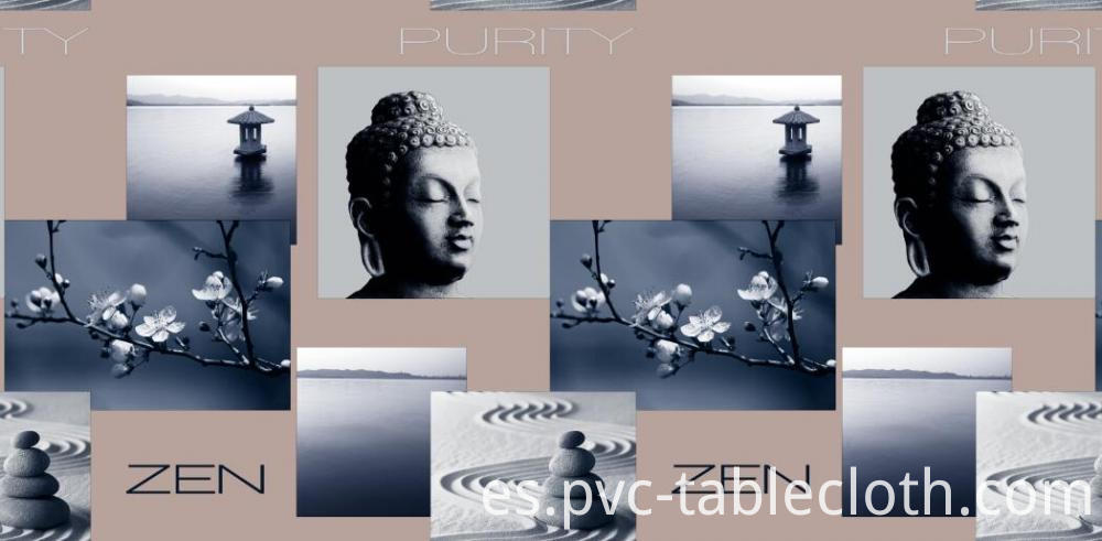 PVC/EVA printed tablecloths with fabric backing