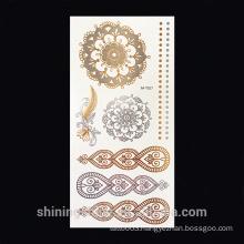 Temporary Metallic gold foil water transfer jewelry fashion tattoo sticker