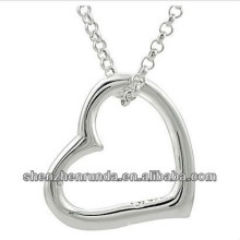 fashion jewelry girlfriend heart pendant necklace stainless steel necklace