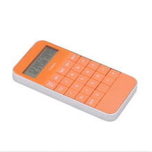 Mobile phone shape calculator with 10 digits display