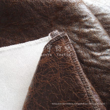 Synthetic Leather Bronzed Fabric with Thick Bonded Back