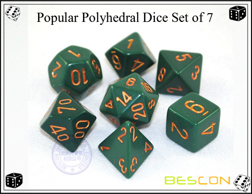 Popular Polyhedral Dice Set of 7