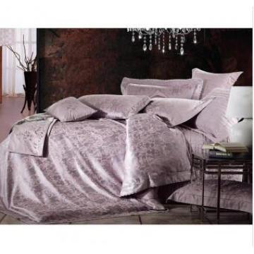 Luxus Polyester und Modal Jacquard Bettlaken Set Hw-1308