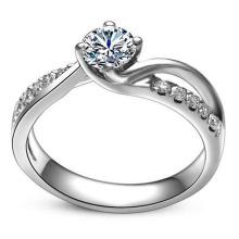 Moda de alta qualidade linda amor anel de prata esterlina jóias
