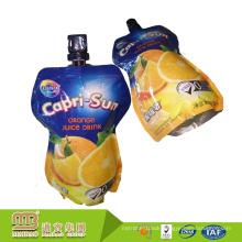 Custom Logo Design Food & Beverage Fruit Juice Package Doy Pack Pouch 150 Ml Foil Stand Up Spout Bag