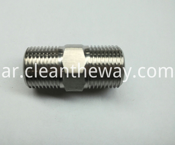 "Brass Pipe Fitting Hexagon Nipple 3/8"" Male Thread NPT Coupling"