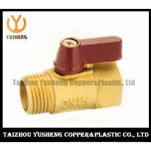Латунный шариковый клапан с алюминиевой или пластиковой ручкой (YS1031)