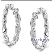 New Trendy 925 Sterling Silver Earrings Findings CZ