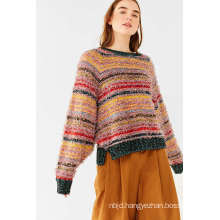 Colorful Nadine Sleeve Lace-up Sweater