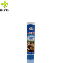 100g Commercial plastic grade tube food tube packaging for peanut butter creamy