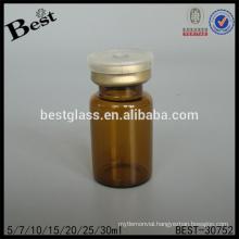7ml round amber medical glass bottle for sale, amber chemical glass bottle, pharmaceutical small glass bottle supplier