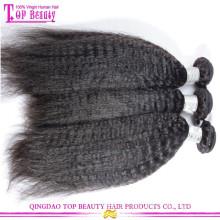 2015 notícias 6A grau virgem cabelo humano pode ser tingido russo Kinky cabelo reto