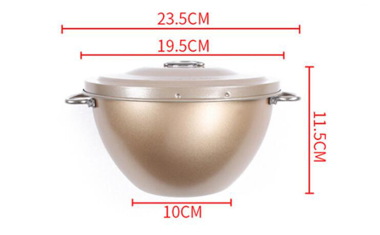 Golden non-stick cake tin with lid01