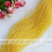 Light Golden Artificial Pearl Wire Beaded Garland For Decorative