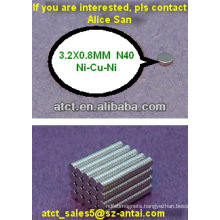Small disk neodymium magnet for computer part
