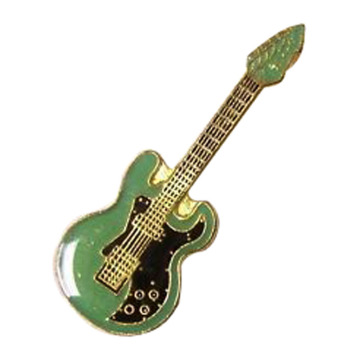 Fashion Electric Guitar Music Lapel Pins Desain
