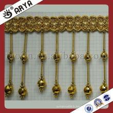 Accessoire en gros en gros de la Chine, bordure des perles de table, franges de perles de rideaux