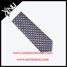 High Quality New Fashion Men Silk Custom Print Tie Hombres