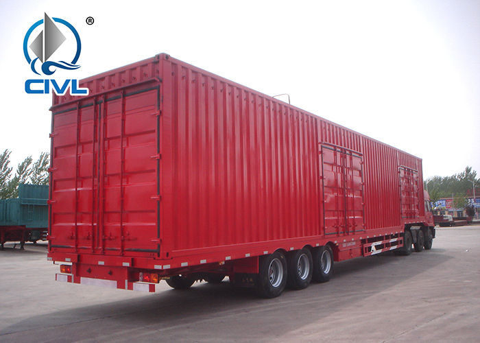 3 Axle Van Semi Trailer 3