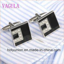 Высокое качество ВАГУЛА мужчин французский рубашки Кристалл серебряные Запонки 332