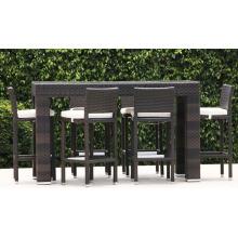 Kunststoff Rattan Korbwaren Garten Outdoor Bar Patio-Möbel-Set