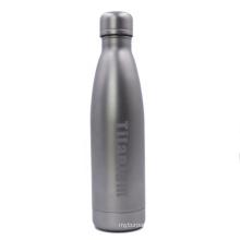 Double Wall Cola Shape Hiking Vacuum Titanium Bottle